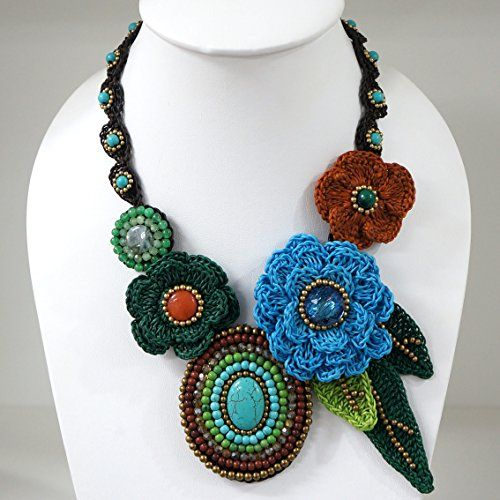 Crochet Flower Necklace Multi Color Buffalo Head https://www.amazon.com/dp/B01N7ZZUUV/ref=cm_sw_r_pi_dp_x_UIVPybD73XND7