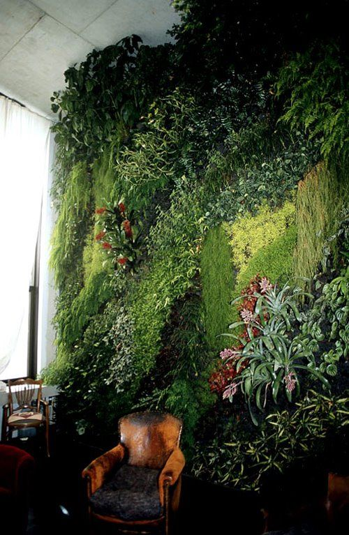 vertical garden by patrick blanc - inspiration for a wall in my own home