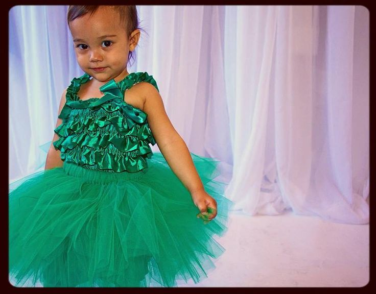 Gorgeously green!  We make tutus in all sizes