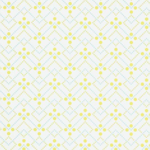 Tapeta Coordonne Room Seven: Field of Flowers 3900005 Diagonal Dot Lime