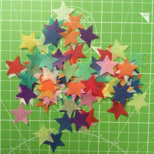 ✨Star shaped confetti, biodegradable & handcut in studio ✨  #colourmehappy #star #confetti #weddingconfetti #creativewedding #ecowedding #colour #handmadeconfetti #biodegradableconfetti #madeinscotland #weddingdecor #confettiphotography #scottishwedding #glasgowetsy #lifeiscolorful (at Glasgow, United Kingdom)