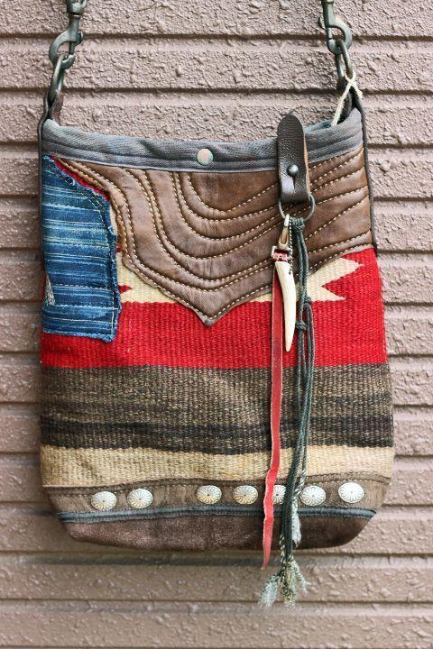 「J.AUGUR DESIGN」 NAVAJO BUCKET BAG #1 ジュディーオーガーデザイン ナバホ バケットバッグ #1 [ナバホブランケット×レザー]
