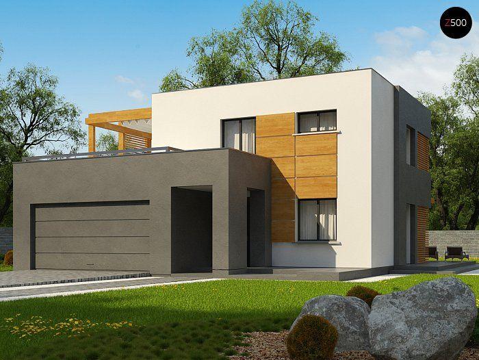 Общая площадь 137,0 м² Проект дома Zx73 подойдет тем, кому нравятся проекты домов хай-тек.