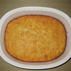 Cornbread Pudding Allrecipes.com- Made this today! Turned out phenomenal...  made a few tweaks though (added eggs and butter) and it tasted like the Corm Tomatillo from Chevy's