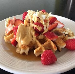 Waffles that are Low Carb and High Protein!? Oh yes, these are ABS Strawberry Protein Waffles (Also gluten free) and super easy to make! You can check them out by clicking on the image! :)