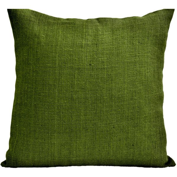 Decorative Pillow Case Green Burlap Pillow Cover Hessian Cushion Home... (1,140 INR) via Polyvore featuring home, home decor, throw pillows, cushions, pillows, dark olive, decorative pillows, home & living, home décor and jute throw pillows
