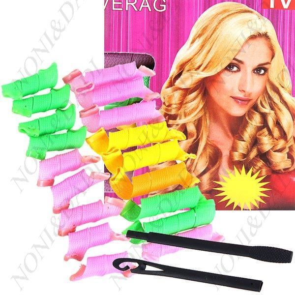 18 x Instant DIY Perm Forming Circle #Spiral Hair Curler Roller with a Magic Leverag Hairstyling Item #style #hair #fashion