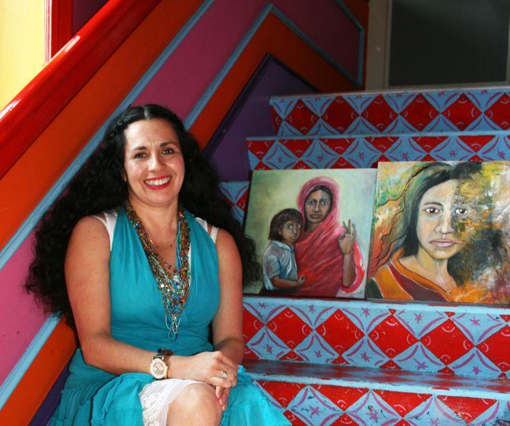 """Wat maak je? """"Ik geef les in schilderen en kunstgeschiedenis in mijn atelier aan de Teteringsedijk in Breda. Vandaag (17 mei jl, red.) is er een expositie van mijn werk en dat van mijn schildergroe..."""
