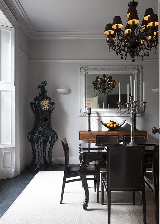 That CLOCK! Gothic Romantique - Inspired Gothic dining room