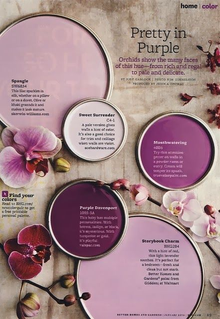 Sometimes finding paint is the hardest of designing. Here is some great paint ideas to paint your purple and gold baby nursery.