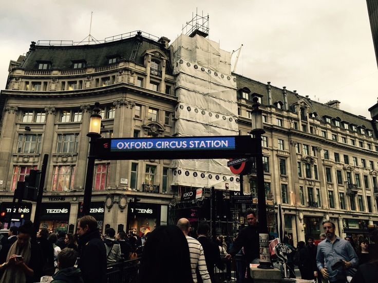Near this Oxford circus station have a many shopping stores.  H&M, Primark, Topshop, forever 21, and urban outfitters and so on.