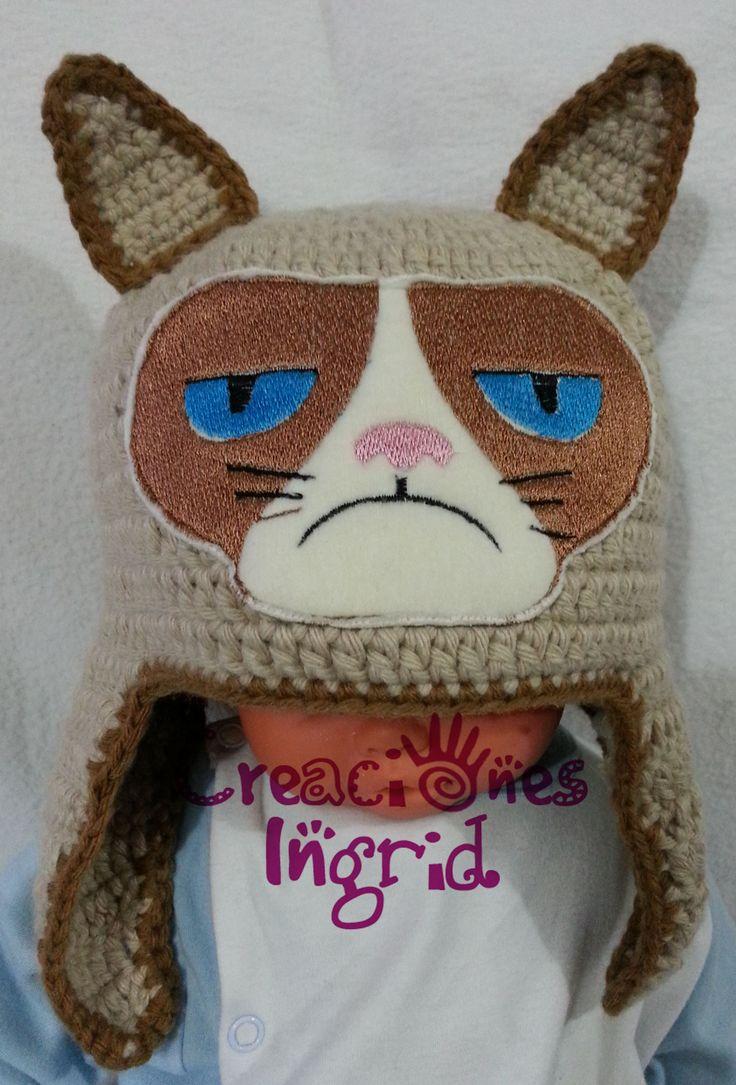 No Grumpy Cat Crohet Hat
