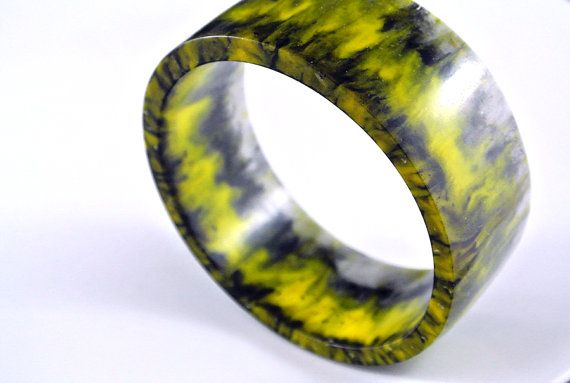 Yellow/Black Le Tour Resin Bangle SOLD