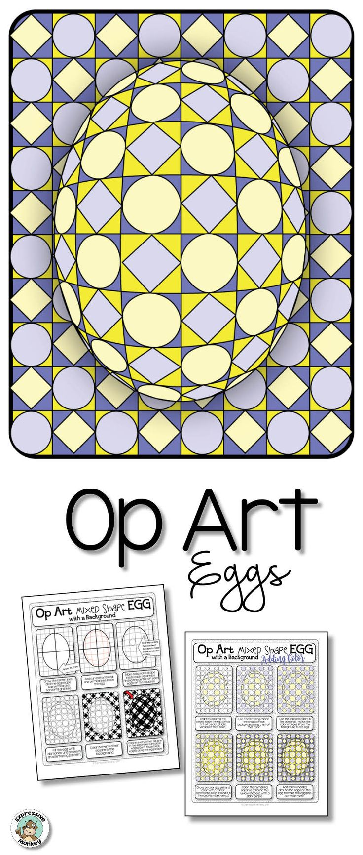 Don't let the pretty eggs fool you!  This lesson is rich in art concepts and cross-curricular connections! !