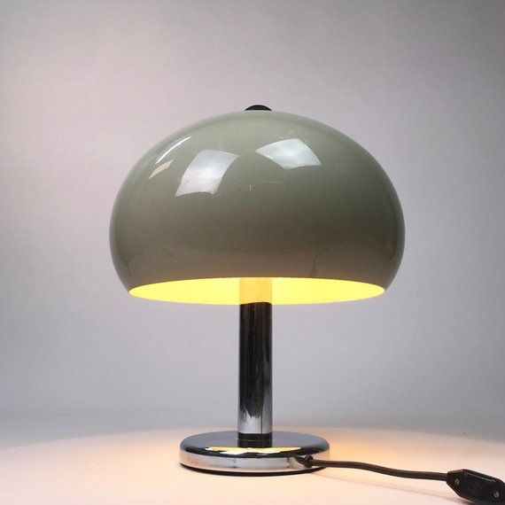 Mid Century Modern Contemporaty Classic Space Age Design Peil Putzler Mushroom Chrome Table Lamp From The 1970s Made In Germany Guzzini Chrome Table Lamp Lamp Table Lamp