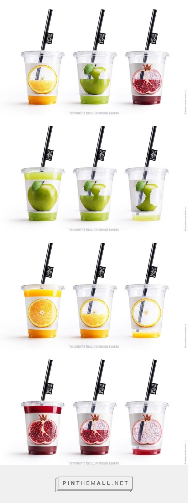 This type of cup is very symbolic of fresh juices. This could used in a similar way to the glass bottle design on the milk carton.
