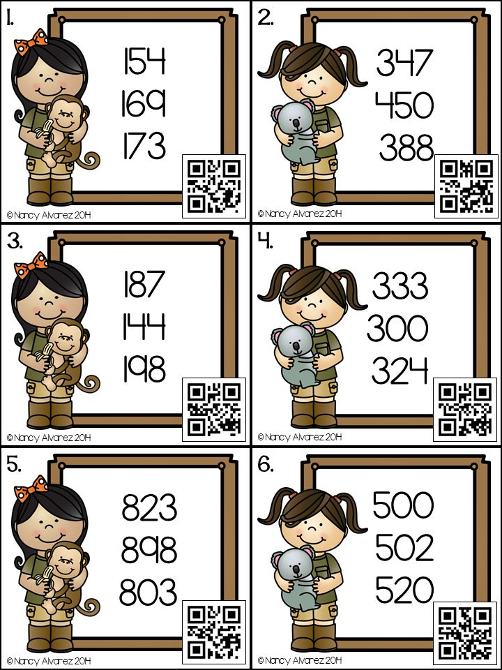 1001 best qr codes for kids images on pinterest qr codes free download ordering numbers place value to the hundreds place fandeluxe Choice Image