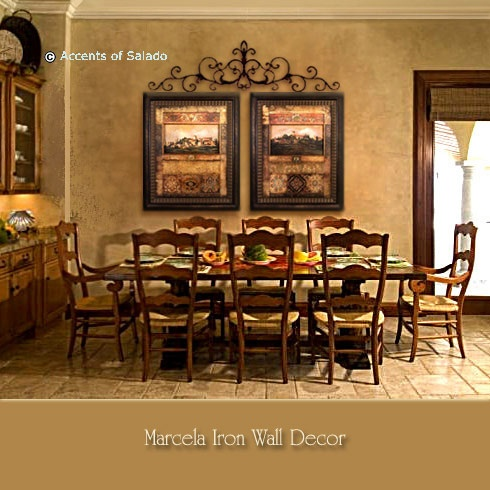 Pretty Tuscan Dining Room:)