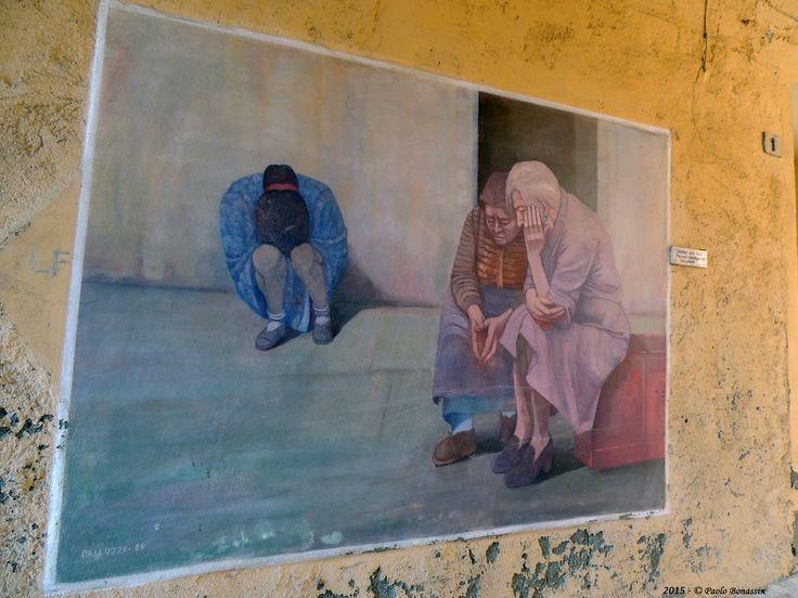 Dozza - Il Muro dipinto: Pallozzi Gaetano - Donne del Sud 1989 | Dozza - Il Muro dipinto: Pallozzi Gaetano - Donne del Sud 1989