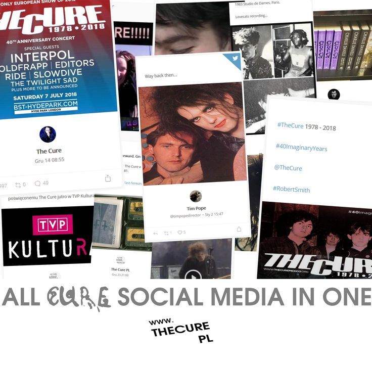 All cure social media streams in one. Visit www.thecure.pl