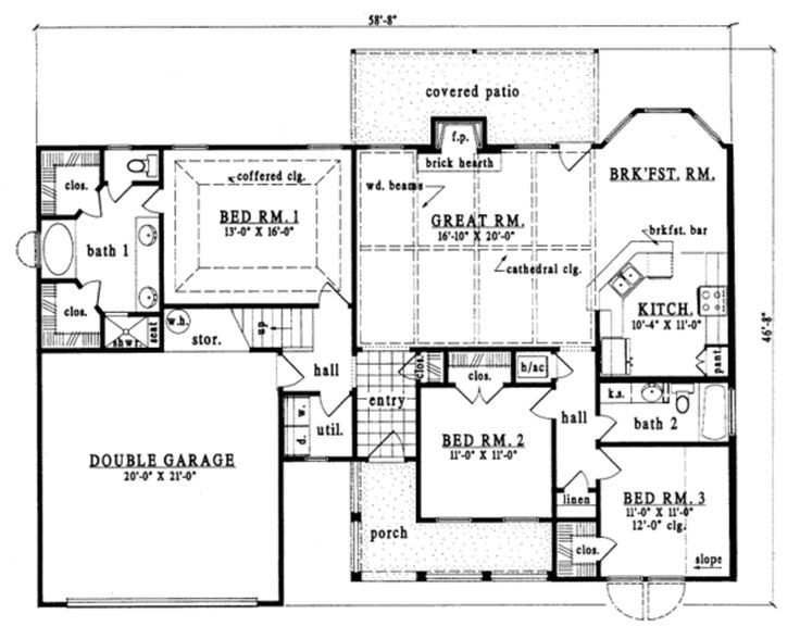 the basis for my retirement house plan built in nc main floor plan