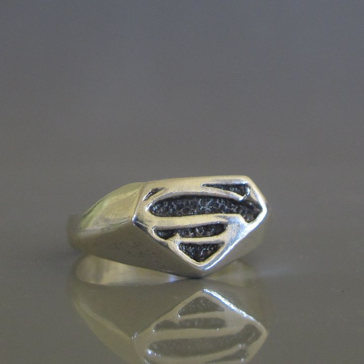 Mens pinky ring, Superman ring, Mens silver ring made to order, Mens jewelry by SigalFJewelry on Etsy https://www.etsy.com/listing/239889788/mens-pinky-ring-superman-ring-mens