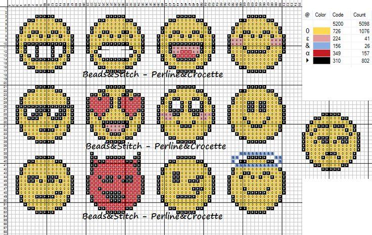 Emoticons Perler Bead Pattern