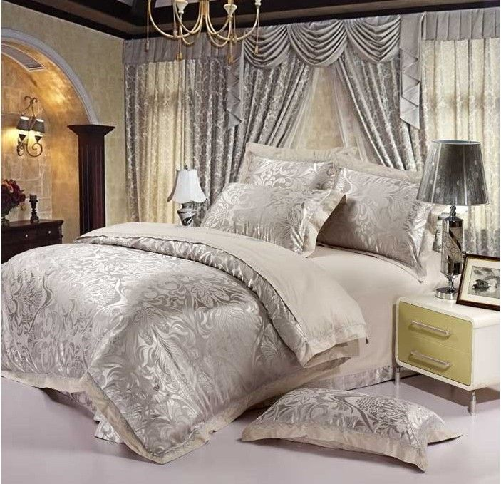 Luxury Bedding Set 4pcs Home Textile 100% Cotton Comforter Set King Size Duvet Cover Sale & 12 best Comforter images on Pinterest | King comforter Master ...