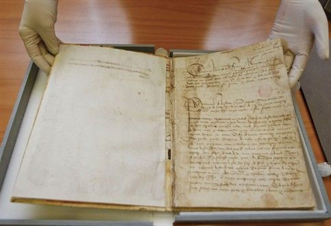 """Vasco Da Gama's diary from his first voyage to India in the late 15th century becomes Memory of World Register – UNESCO. It became the 6th Portuguese document in the list, besides """"Ndembu Archives"""", """"Collection of Manuscripts on the Portuguese Discoveries"""", """"First flight across the South Atlantic Ocean in 1922"""", """"Letter from Pêro Vaz de Caminha"""" and """"Treaty of Tordesillas"""""""