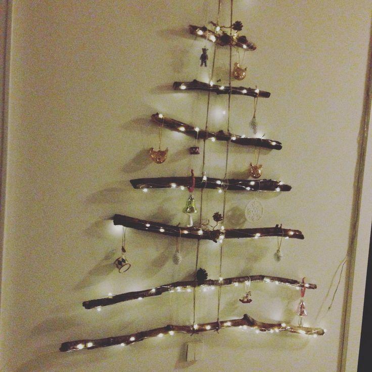 Simple pinde og lidt julepynt