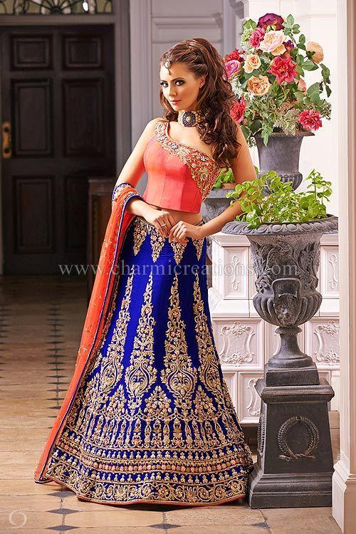 db7ec7280e Pin by Sangeeta Kaul on Lehngas designs | Wedding dresses, Bridal dresses, Asian  bridal wear