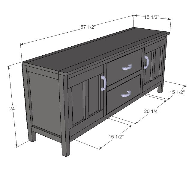 Ana White | Build a Media Console | Free and Easy DIY Project and Furniture Plans