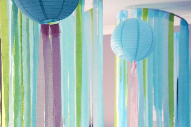Mermaid Party Streamer Backdrop #mermaid #backdrop