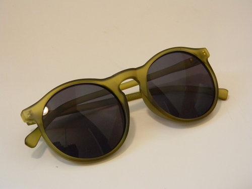 Circle/Round Keyhole WAYFARER CLUBMASTER Sunglasses Matte Green - $30.00
