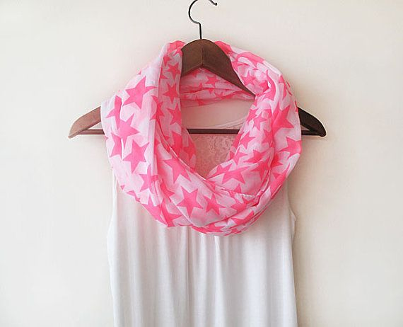 Hey, I found this really awesome Etsy listing at https://www.etsy.com/listing/178845431/neon-infinity-scarf-star-pattern-soft