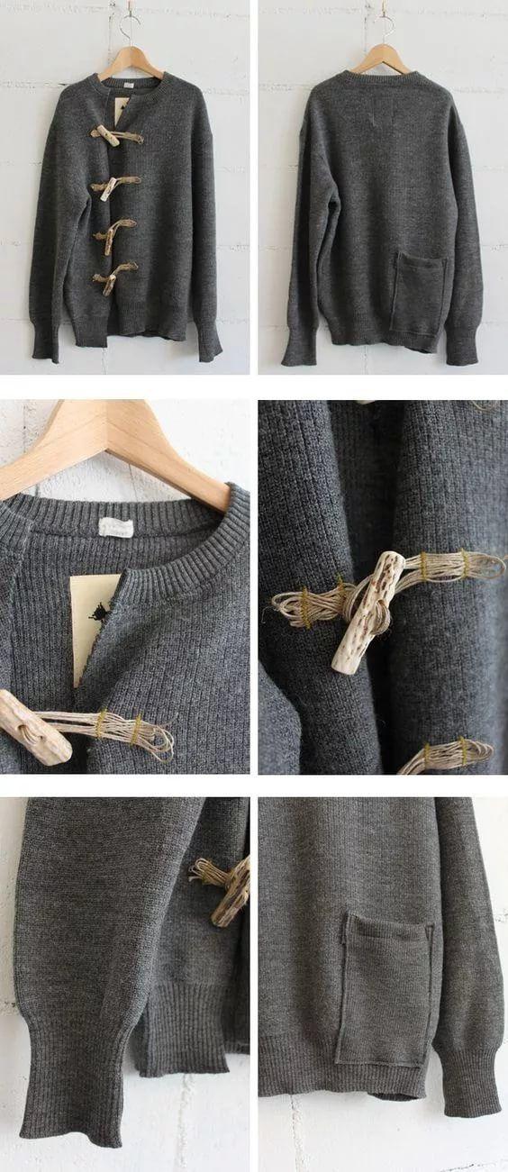 переделать старый свитер своими руками фото