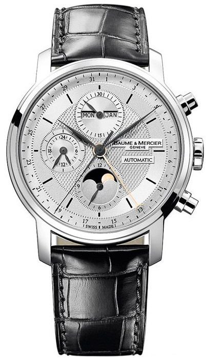 MOA08870 Baume & Mercier Classima Executives XL Chronograph and Complete Calendar - швейцарские мужские часы наручные, белые