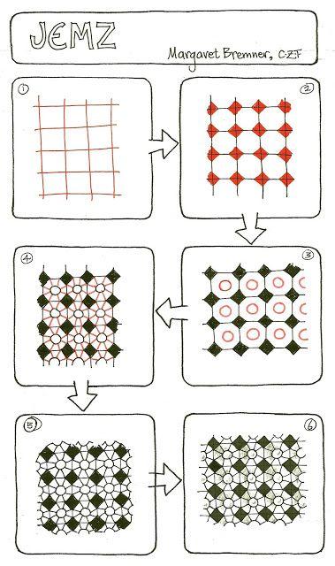 Margaret Bremner, CZT; www.enthusiasticartist.blogspot.com Pattern: Jemz