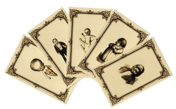 (repin-- WANT) victorian medical curiosity trading card set