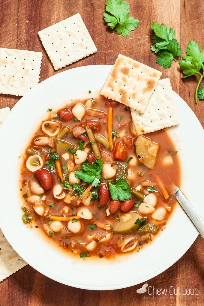 Make this minestrone soup gf by replacing pasta with gf version