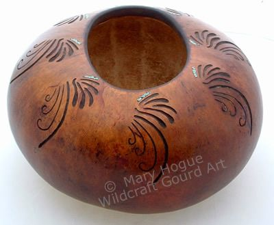"*Gourd Art - ""River Dance"" by Mary Hogue"