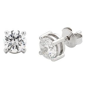 Beautiful diamond stud earrings for your wedding day