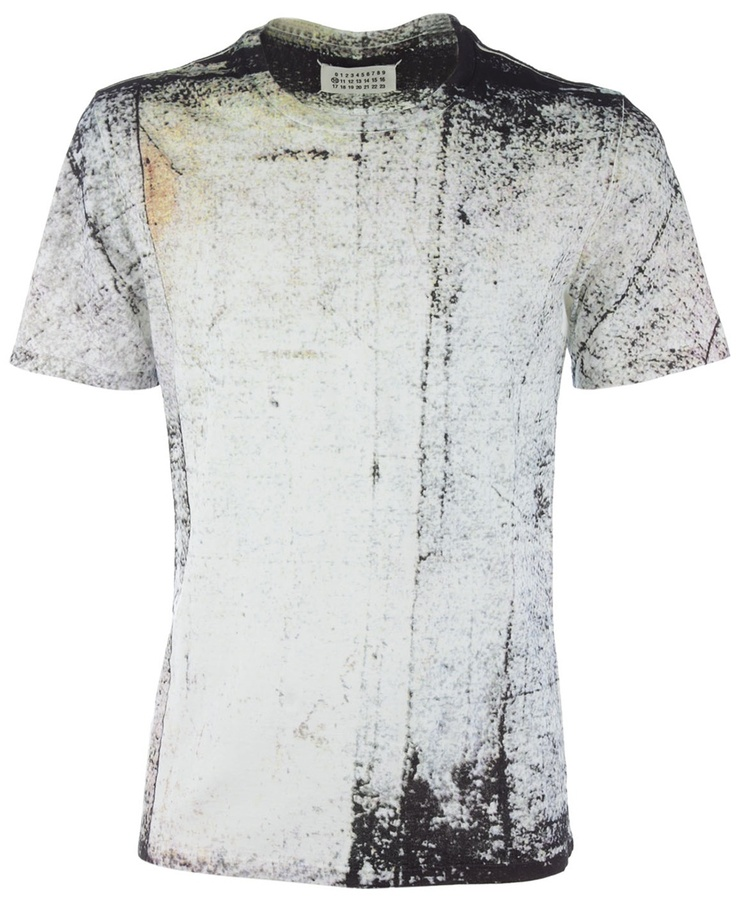 Visions of the Future: Maison Martin Margiela Abstract Print T-shirt in  Gray for Men (grey)