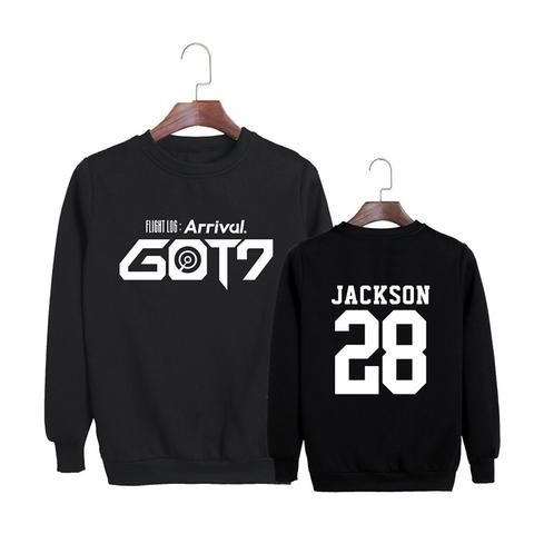 GOT7 Flight Log Arrival Jackson 28 Boy Band Cool Fashion Sweatshirt #GOT7 #FlightLog #Arrival #Jackson #BoyBand #Cool #Fashion #Sweatshirt #KIDOLSTUFF #KPOP