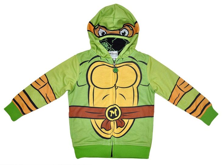 TMNT Toddler Boys Costume Hoodie Jacket with Mask