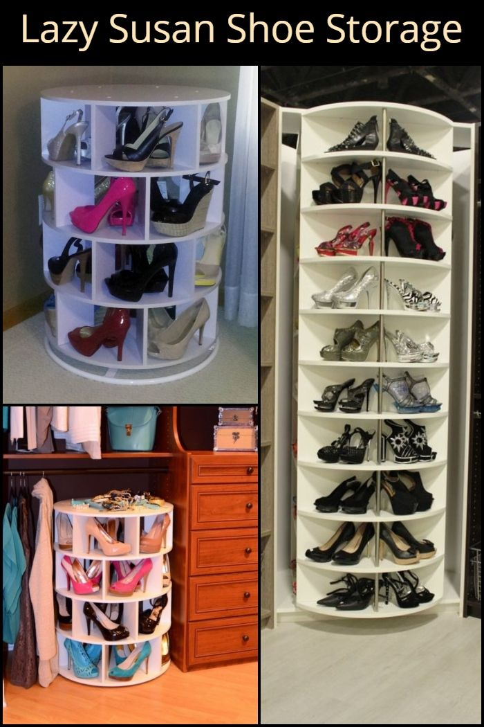 Diy Lazy Susan Shoe Storage Closet Shoe Storage Shoe Storage In