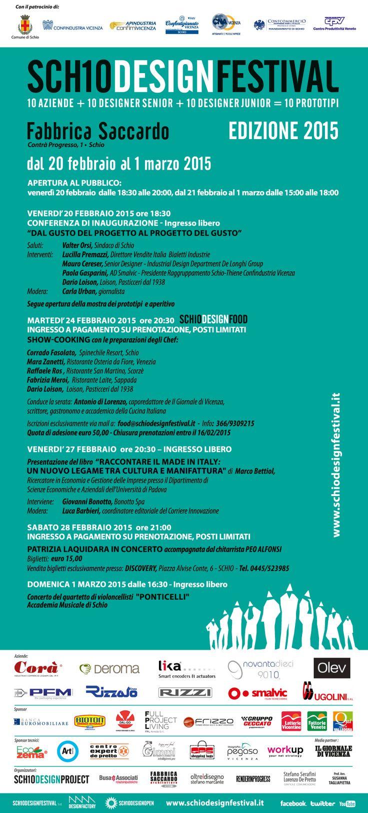 Il calendario degli eventi di #SchioDesignFestival http://www.schiodesignfestival.it/ #Lika #encoder