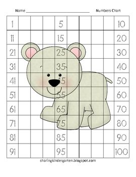 Number Names Worksheets blank 100 chart for kindergarten : 1000+ images about numeros 1 al 100 on Pinterest