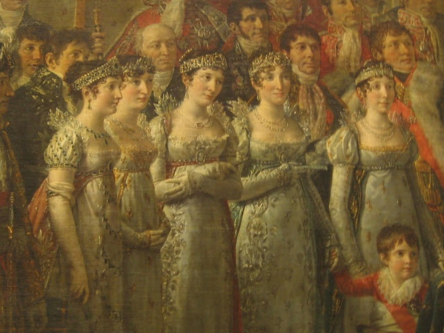 Detail  from Le Sacre de Napoleon by Jacques-Louis David 1807 Louvre, Paris