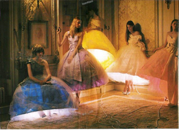 Love this picture. I wish I knew more about it. I think it was taken by Tim Walker for Italian Vogue. Not 100%, though.Wedding Dressses, Girls Generation, Art Piece, Italian Vogue, Lampshades Dresses, Home Vogue, Catching Lights, Beautiful Art, Beautiful Mindfulness